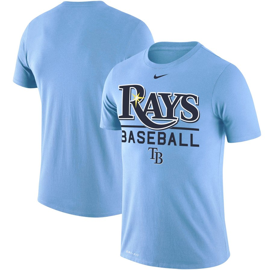 Tampa Bay Rays Nike Practice Performance T-Shirt Blue