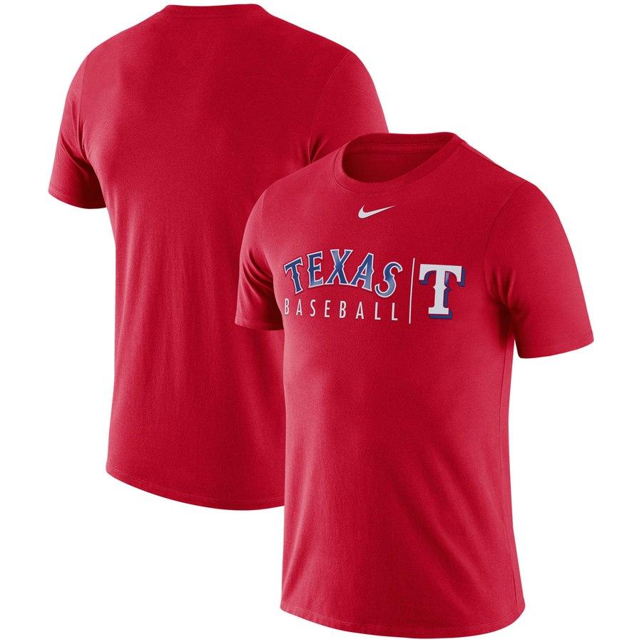 Texas Rangers Nike 2019 Practice T-Shirt Red