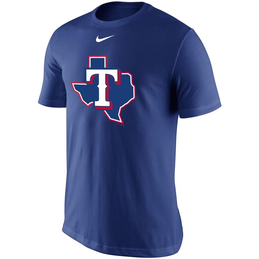 Texas Rangers Nike Legend Batting Practice Primary Logo Performance T-Shirt Royal