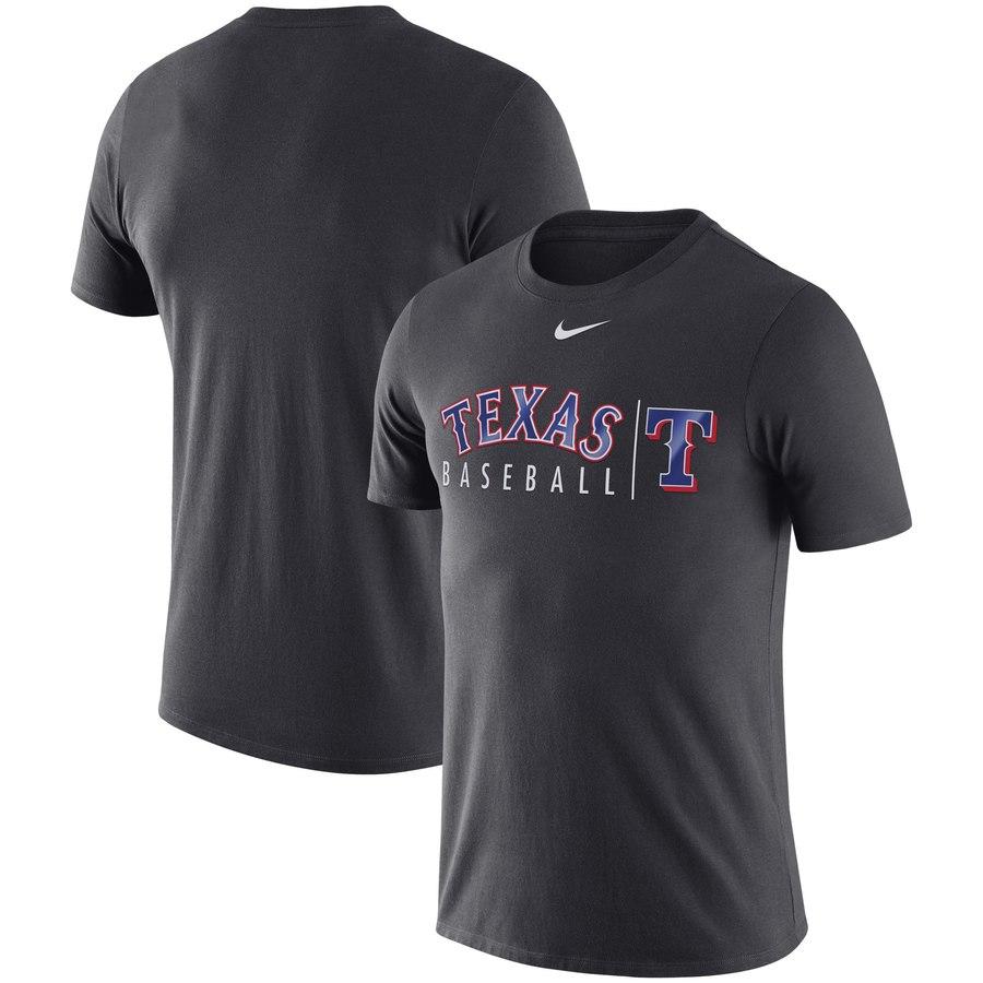 Texas Rangers Nike MLB Practice T-Shirt Anthracite