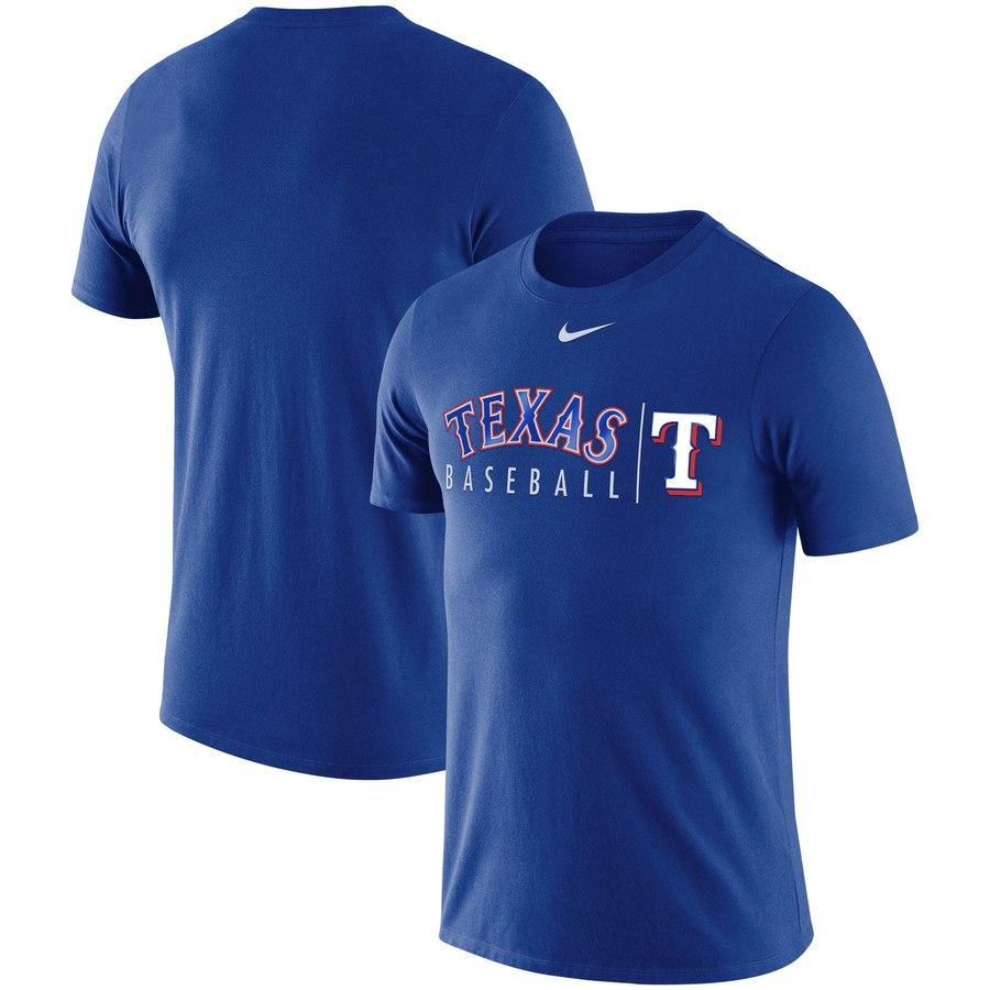 Texas Rangers Nike MLB Practice T-Shirt Royal