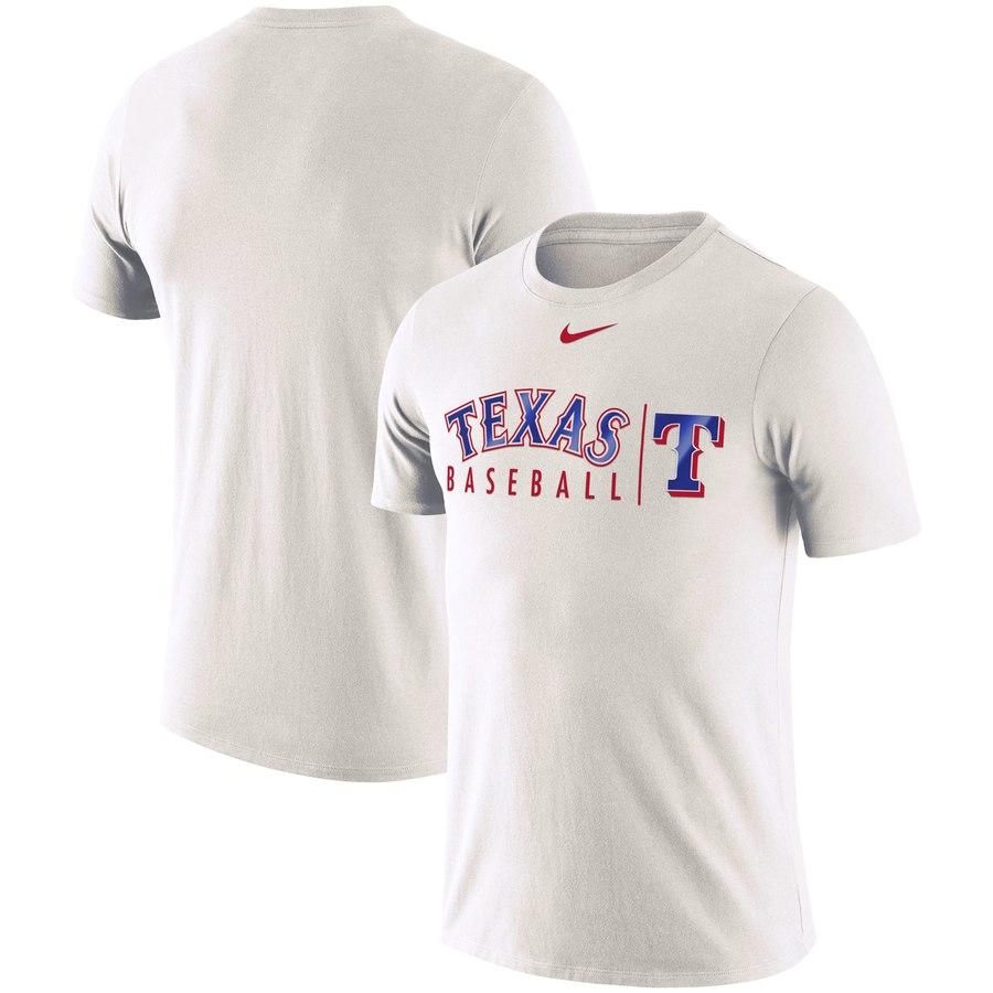 Texas Rangers Nike MLB Practice T-Shirt White