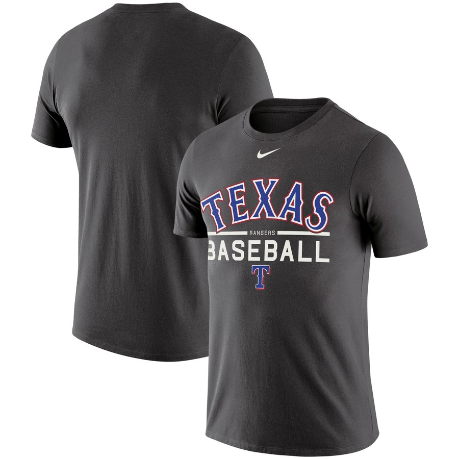 Texas Rangers Nike Practice Performance T-Shirt Anthracite