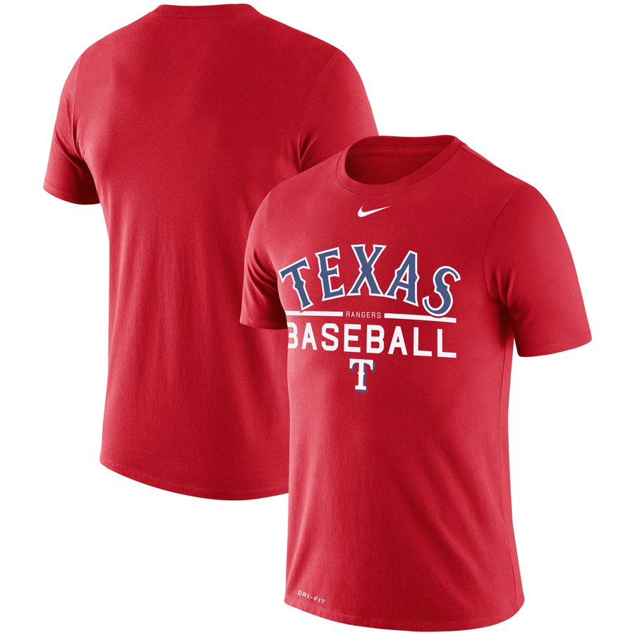 Texas Rangers Nike Practice Performance T-Shirt Red