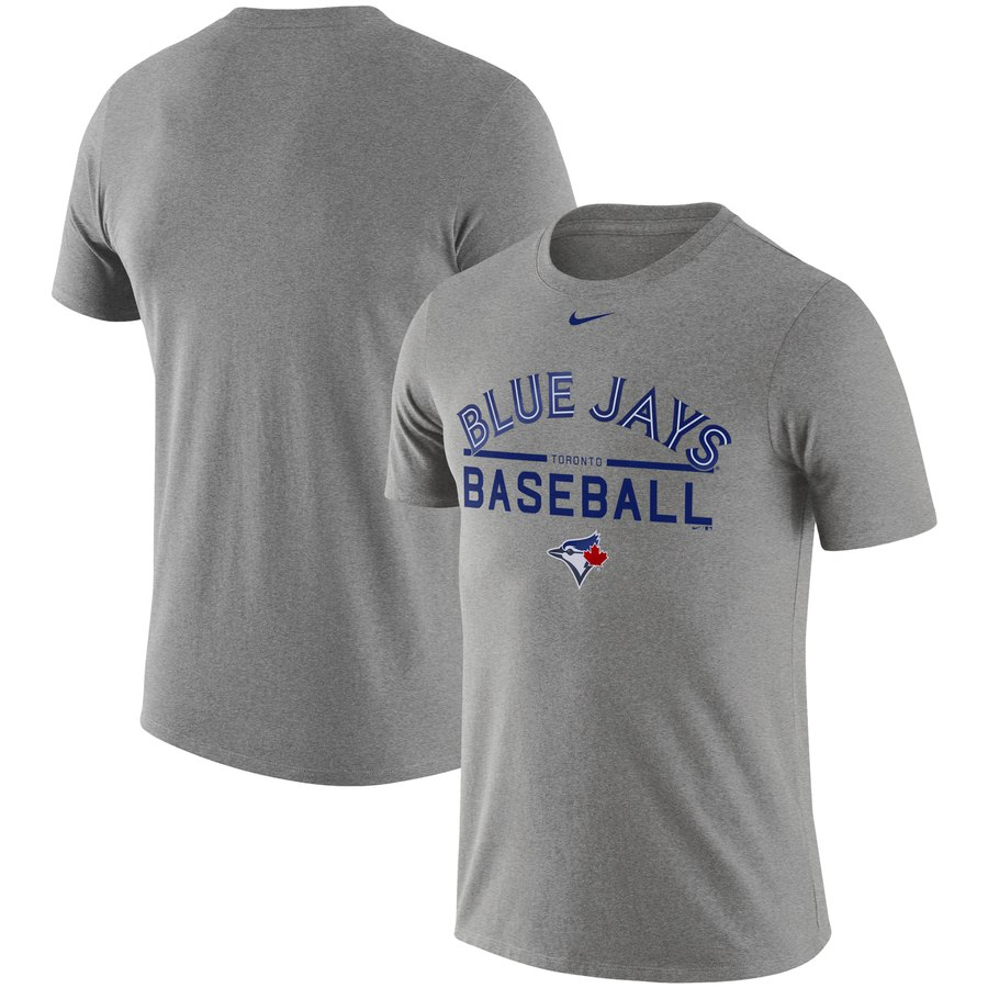 Toronto Blue Jays Nike Practice T-Shirt Heathered Gray