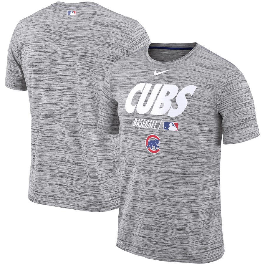 Chicago Cubs Nike Authentic Collection Velocity Team Issue Performance T-Shirt Gray
