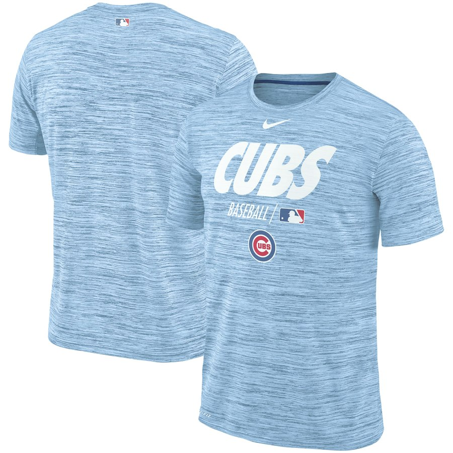Chicago Cubs Nike Authentic Collection Velocity Team Issue Performance T-Shirt Light Blue