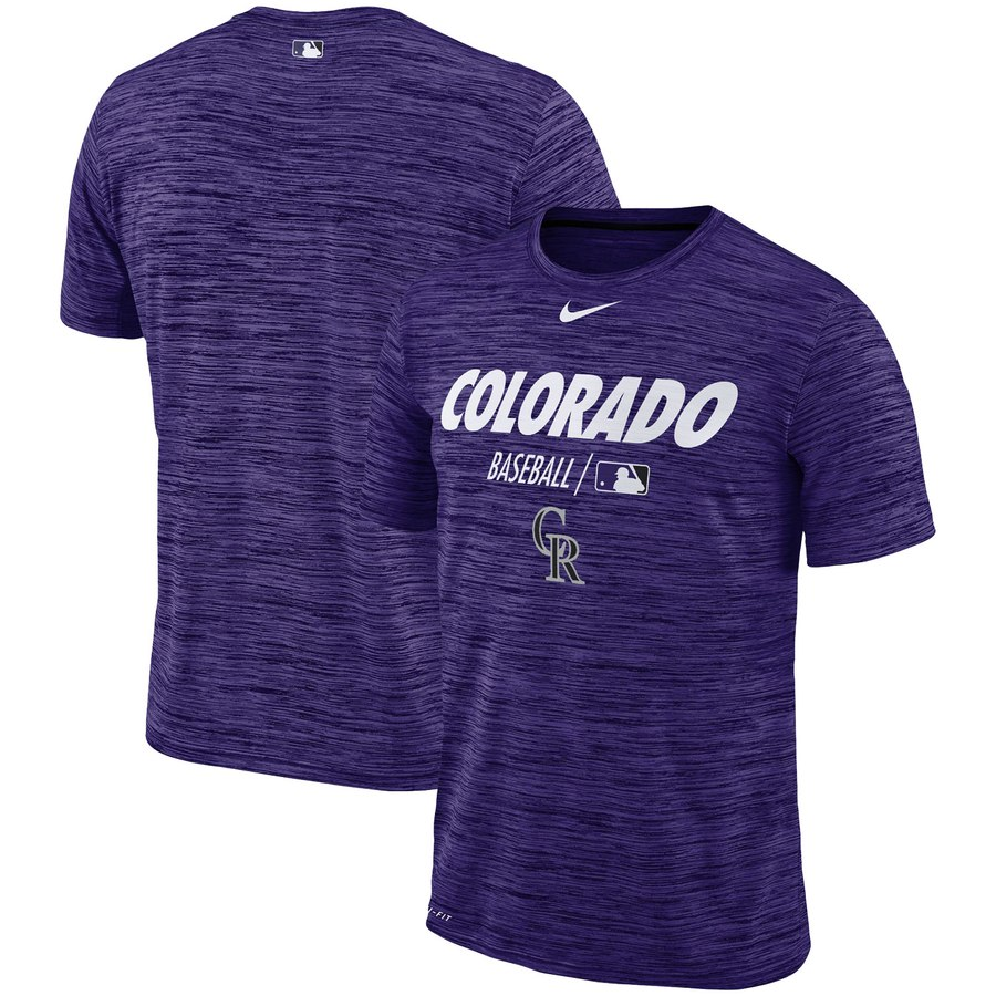 Colorado Rockies Nike Authentic Collection Velocity Team Issue Performance T-Shirt Purple