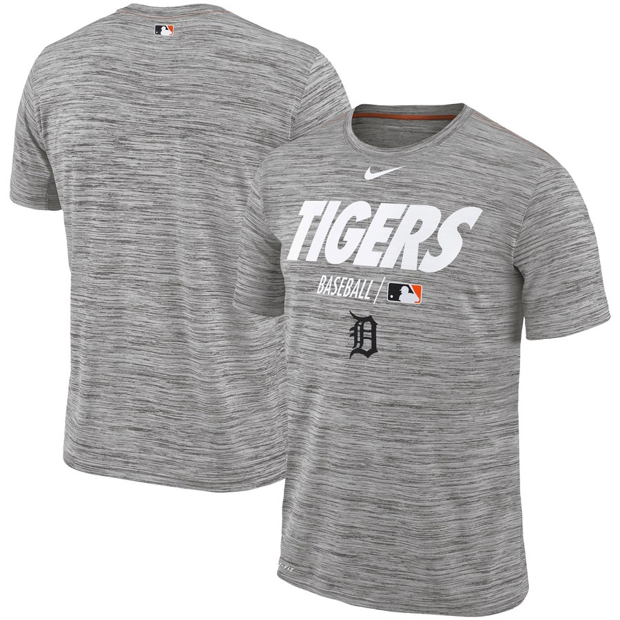 Detroit Tigers Nike Authentic Collection Velocity Team Issue Performance T-Shirt Gray