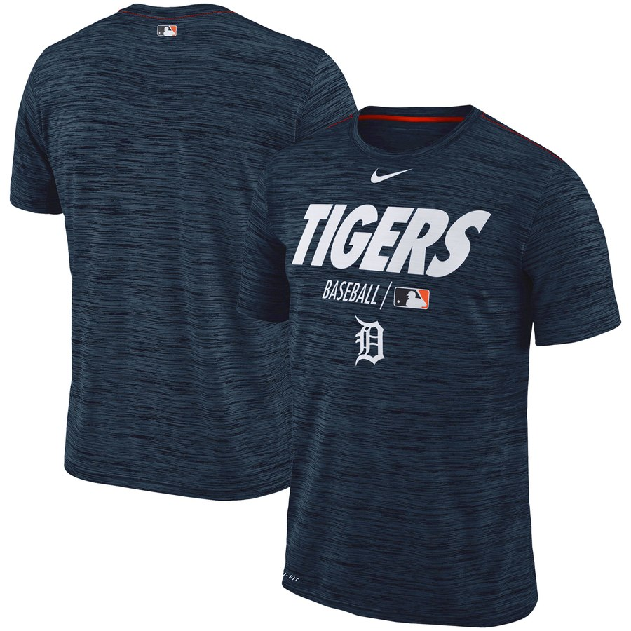 Detroit Tigers Nike Authentic Collection Velocity Team Issue Performance T-Shirt Navy