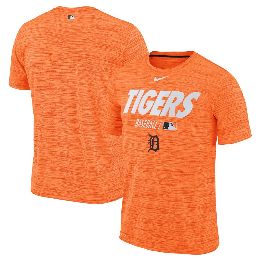 Detroit Tigers Nike Authentic Collection Velocity Team Issue Performance T-Shirt Orange