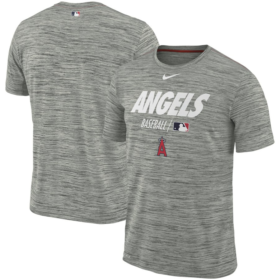 Los Angeles Angels Nike Authentic Collection Velocity Team Issue Performance T-Shirt Gray