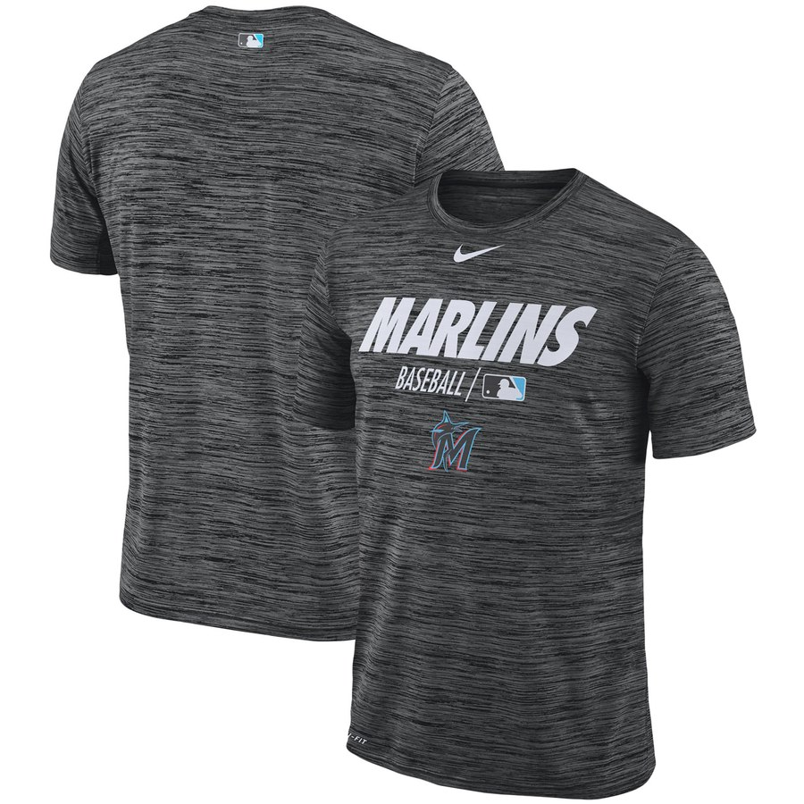 Miami Marlins Nike Authentic Collection Velocity Team Issue Performance T-Shirt Black