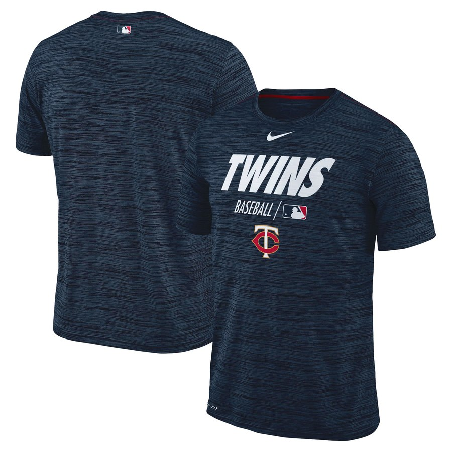 Minnesota Twins Nike Authentic Collection Velocity Team Issue Performance T-Shirt Navy