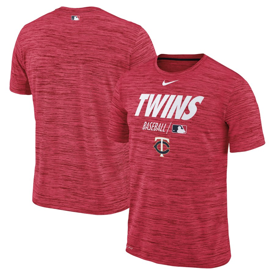 Minnesota Twins Nike Authentic Collection Velocity Team Issue Performance T-Shirt Red