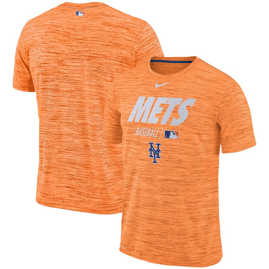 New York Mets Nike Authentic Collection Velocity Team Issue Performance T-Shirt Orange