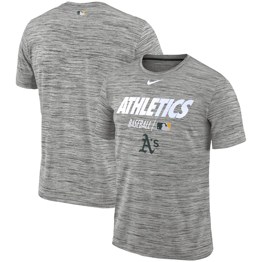 Oakland Athletics Nike Authentic Collection Velocity Team Issue Performance T-Shirt Gray