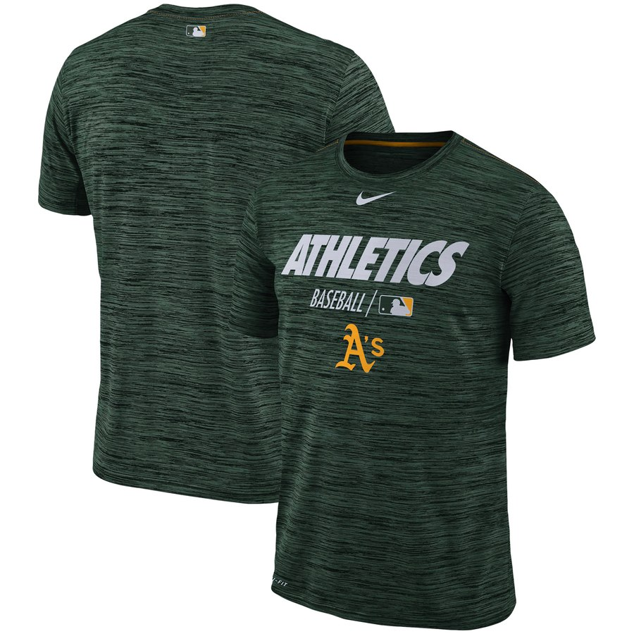 Oakland Athletics Nike Authentic Collection Velocity Team Issue Performance T-Shirt Green