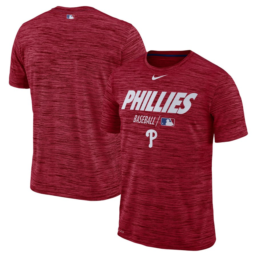 Philadelphia Phillies Nike Authentic Collection Velocity Team Issue Performance T-Shirt Red