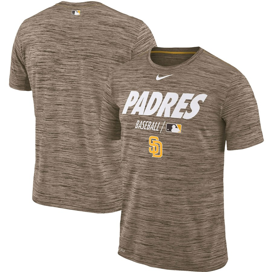 San Diego Padres Nike Authentic Collection Velocity Team Issue Performance T-Shirt Brown