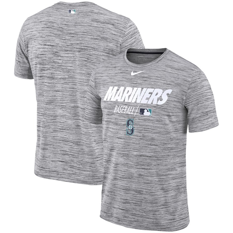 Seattle Mariners Nike Authentic Collection Velocity Team Issue Performance T-Shirt Gray