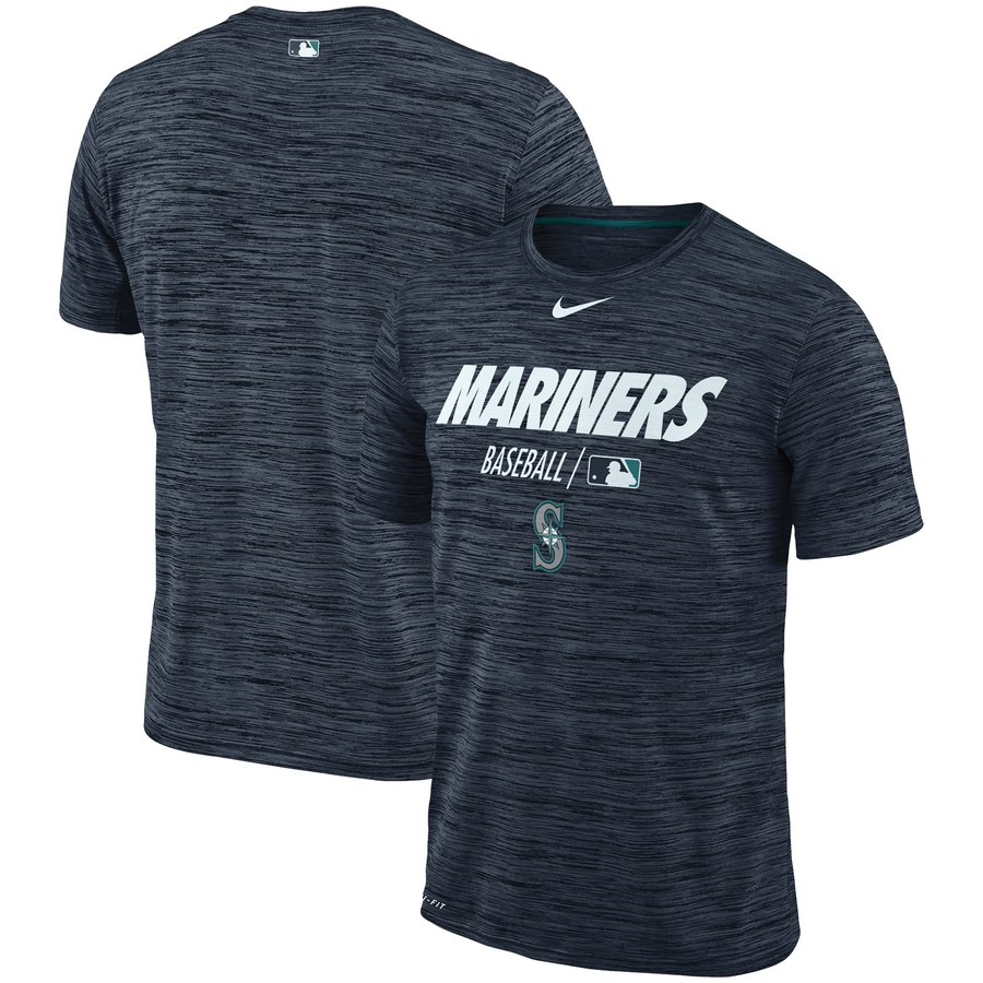 Seattle Mariners Nike Authentic Collection Velocity Team Issue Performance T-Shirt Navy