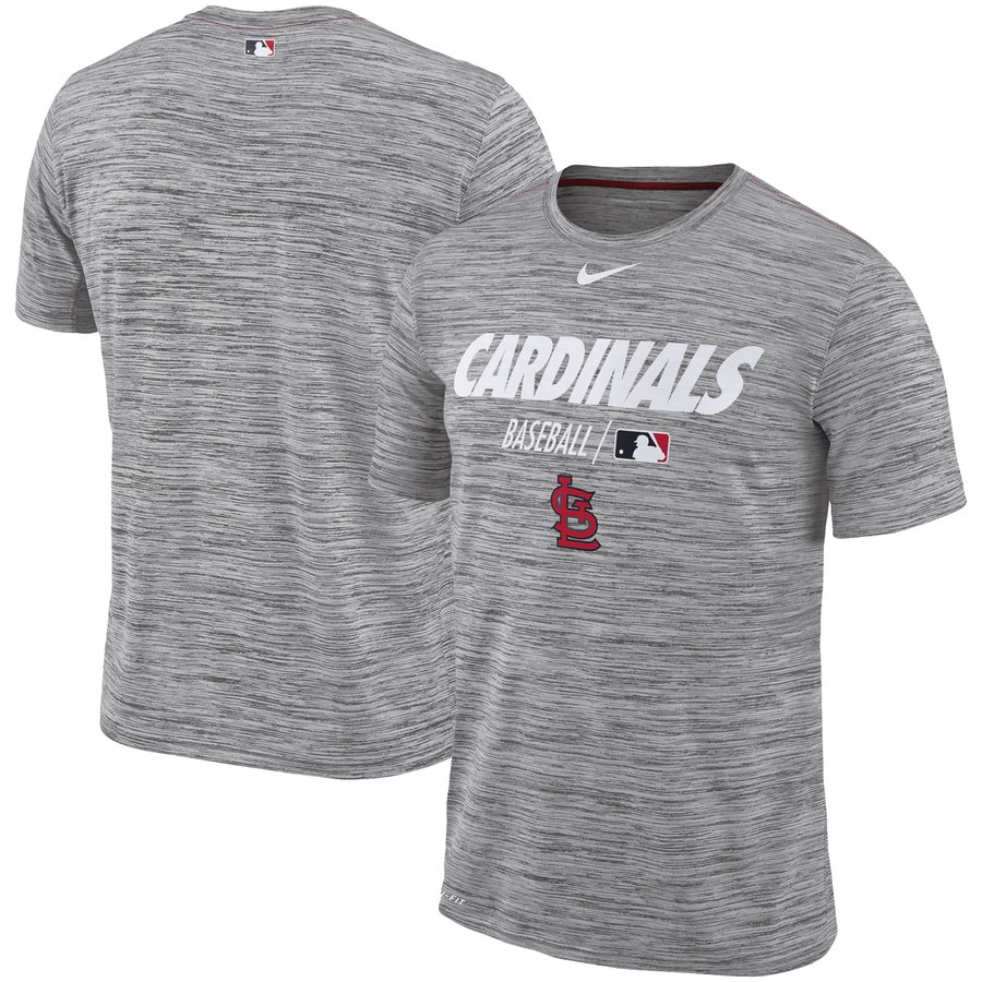 St. Louis Cardinals Nike Authentic Collection Velocity Team Issue Performance T-Shirt Gray