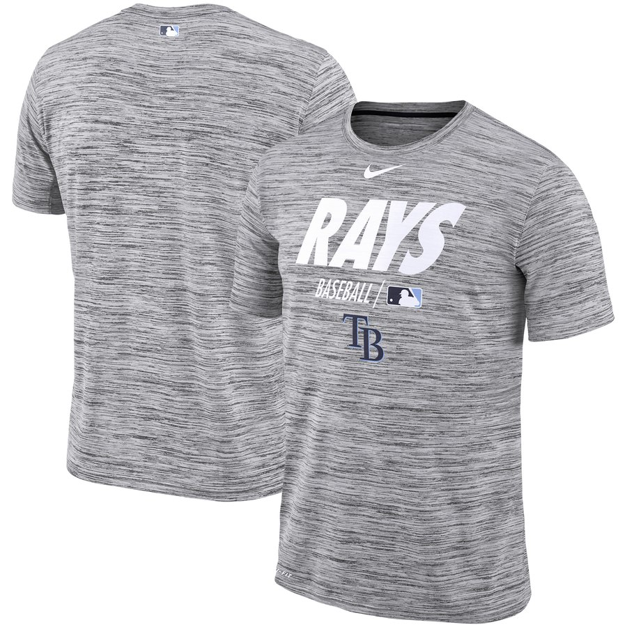 Tampa Bay Rays Nike Authentic Collection Velocity Team Issue Performance T-Shirt Gray