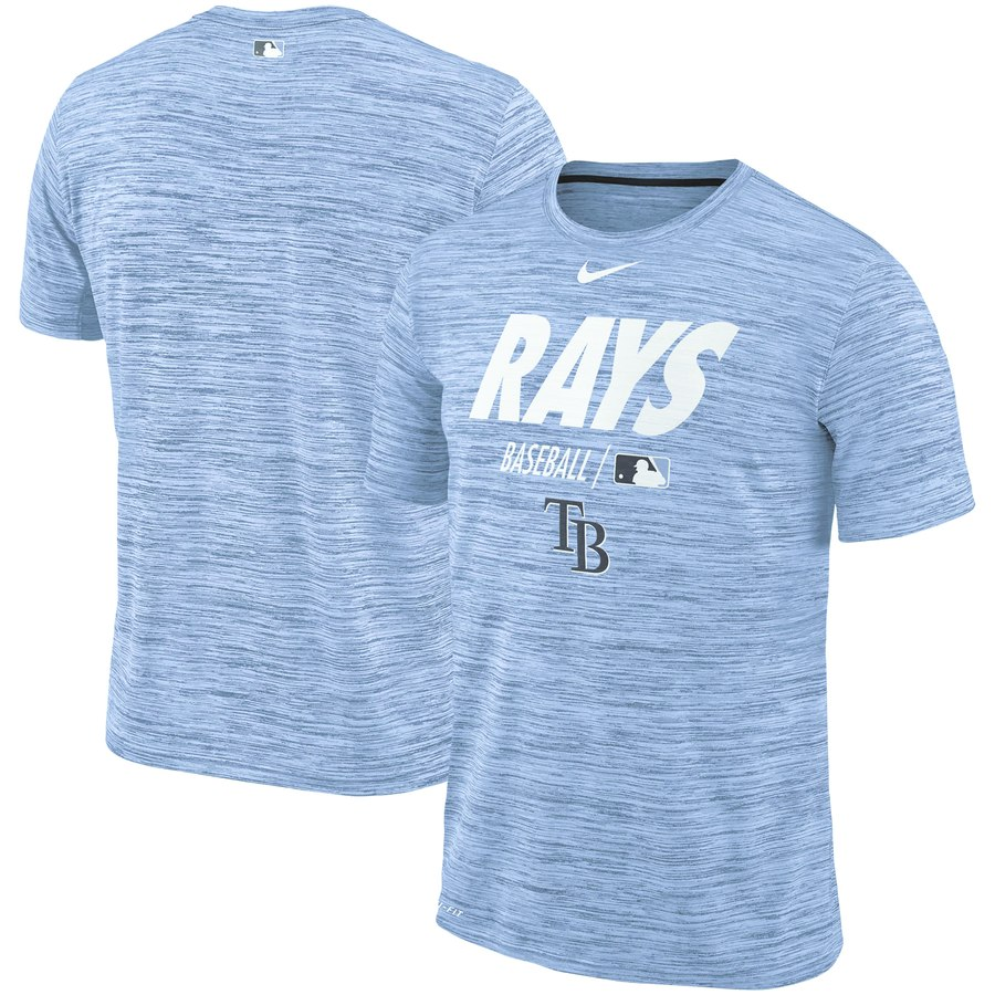 Tampa Bay Rays Nike Authentic Collection Velocity Team Issue Performance T-Shirt Light Blue