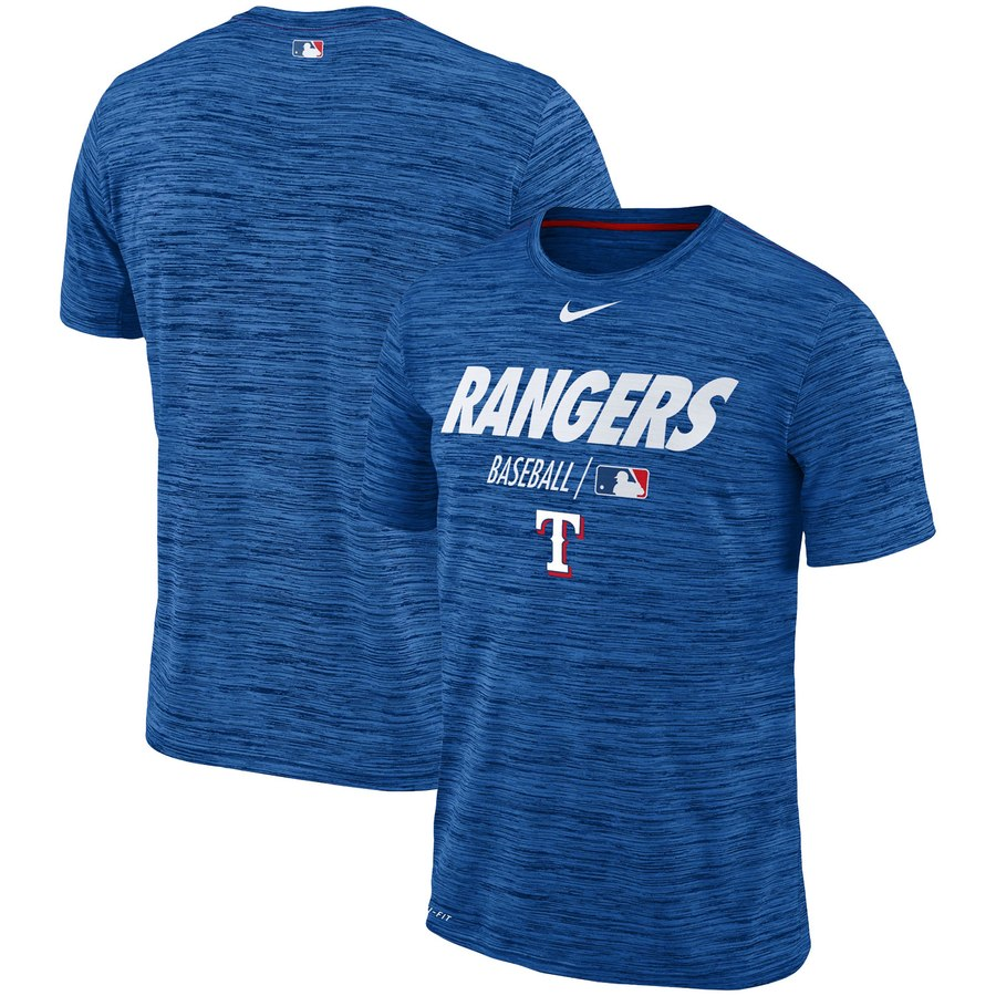 Texas Rangers Nike Authentic Collection Velocity Team Issue Performance T-Shirt Royal