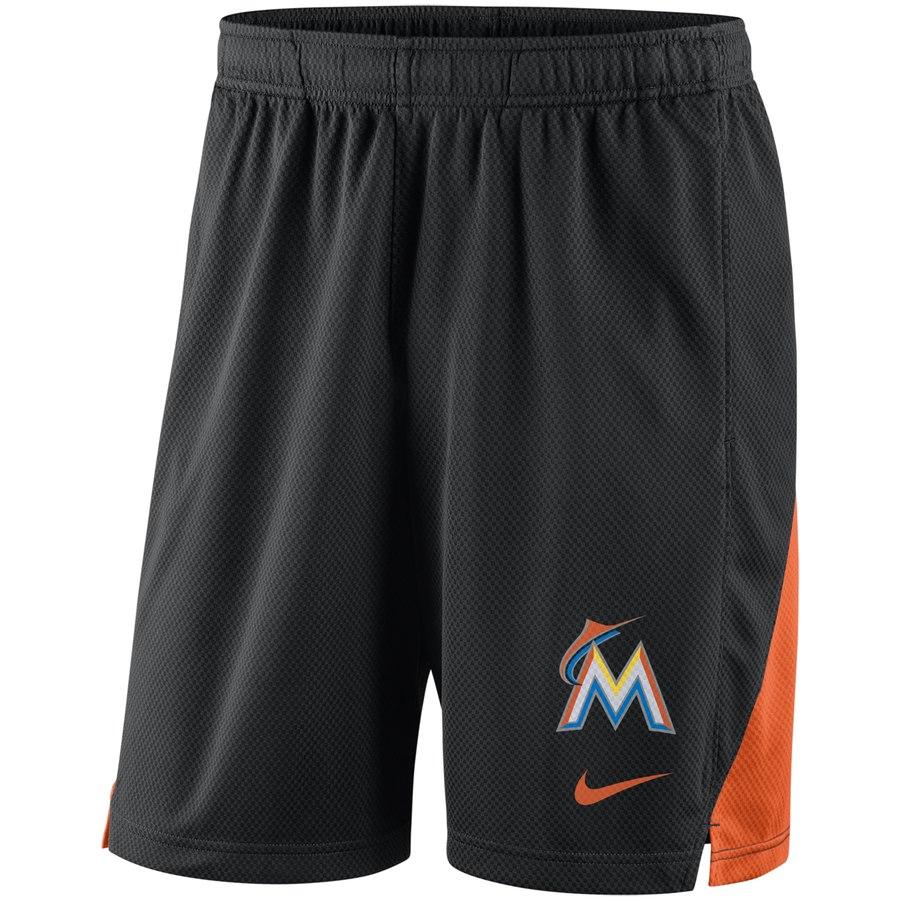 Miami Marlins Nike Franchise Performance Shorts Black