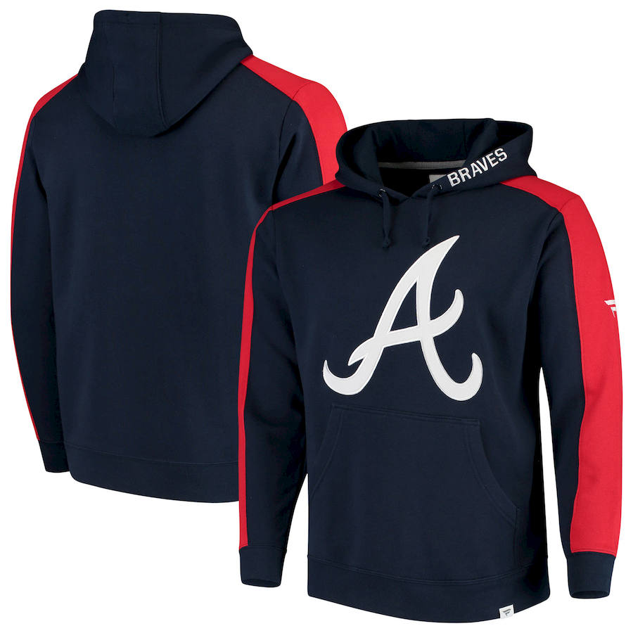 Atlanta Braves Fanatics Branded Iconic Fleece Pullover Hoodie Navy