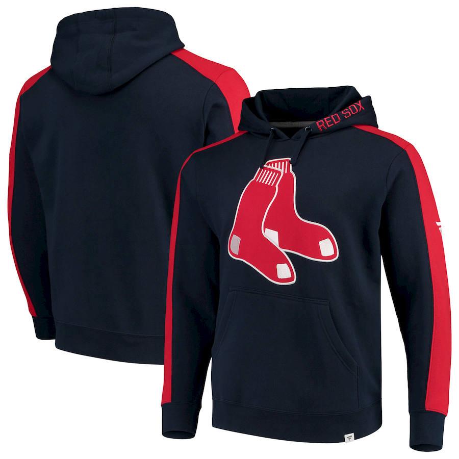 Boston Red Sox Fanatics Branded Alternate Logo Iconic Fleece Pullover Hoodie Navy