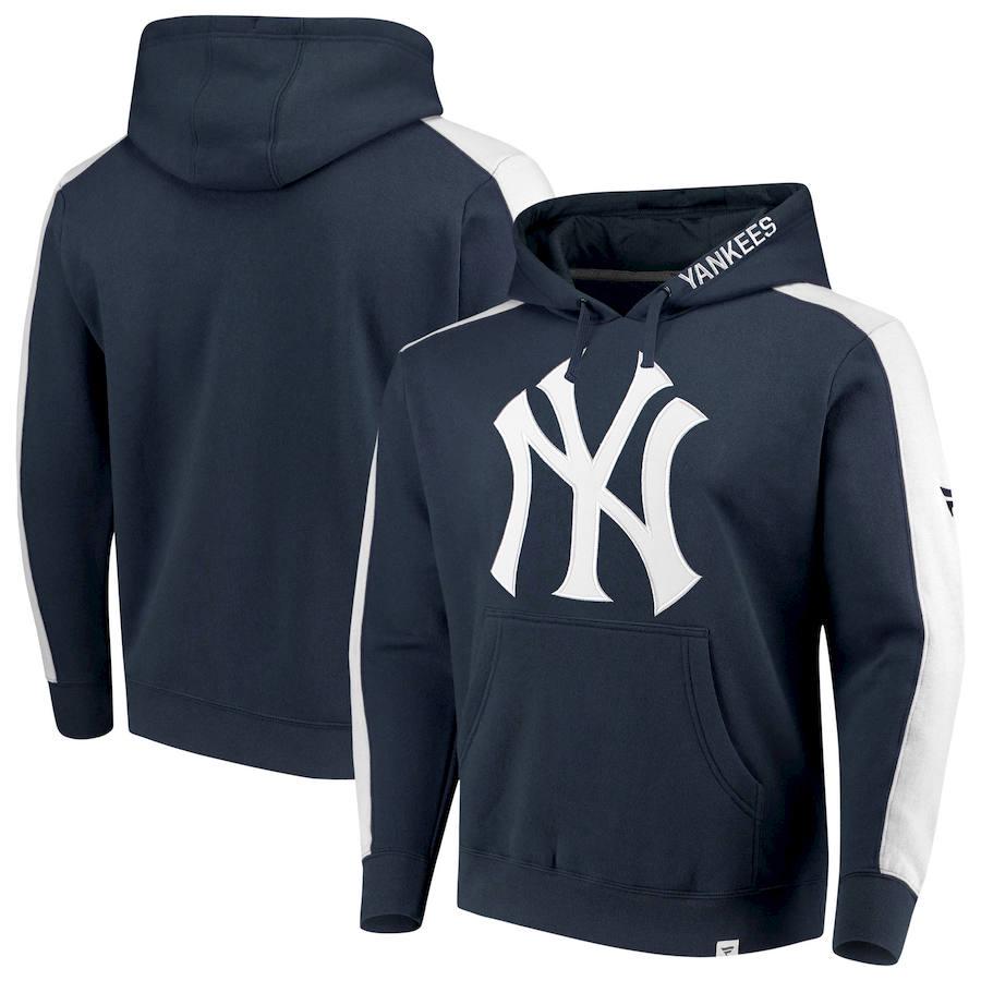 New York Yankees Fanatics Branded Iconic Fleece Pullover Hoodie Navy