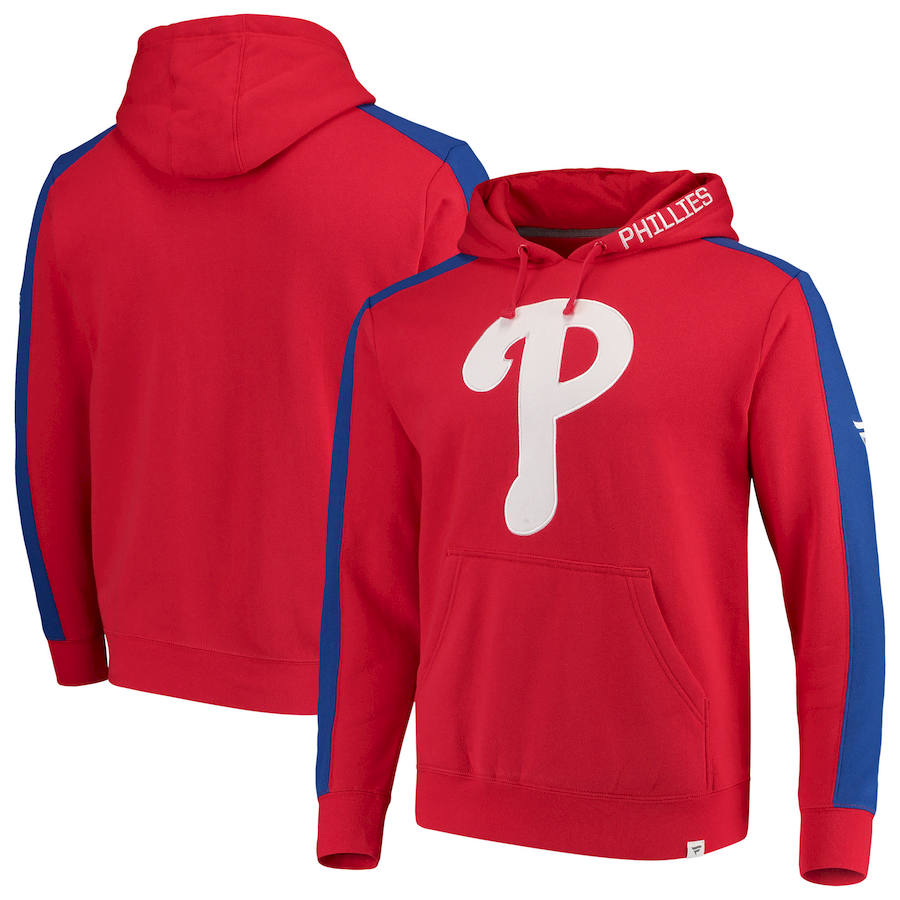 Philadelphia Phillies Fanatics Branded Iconic Fleece Pullover Hoodie Red