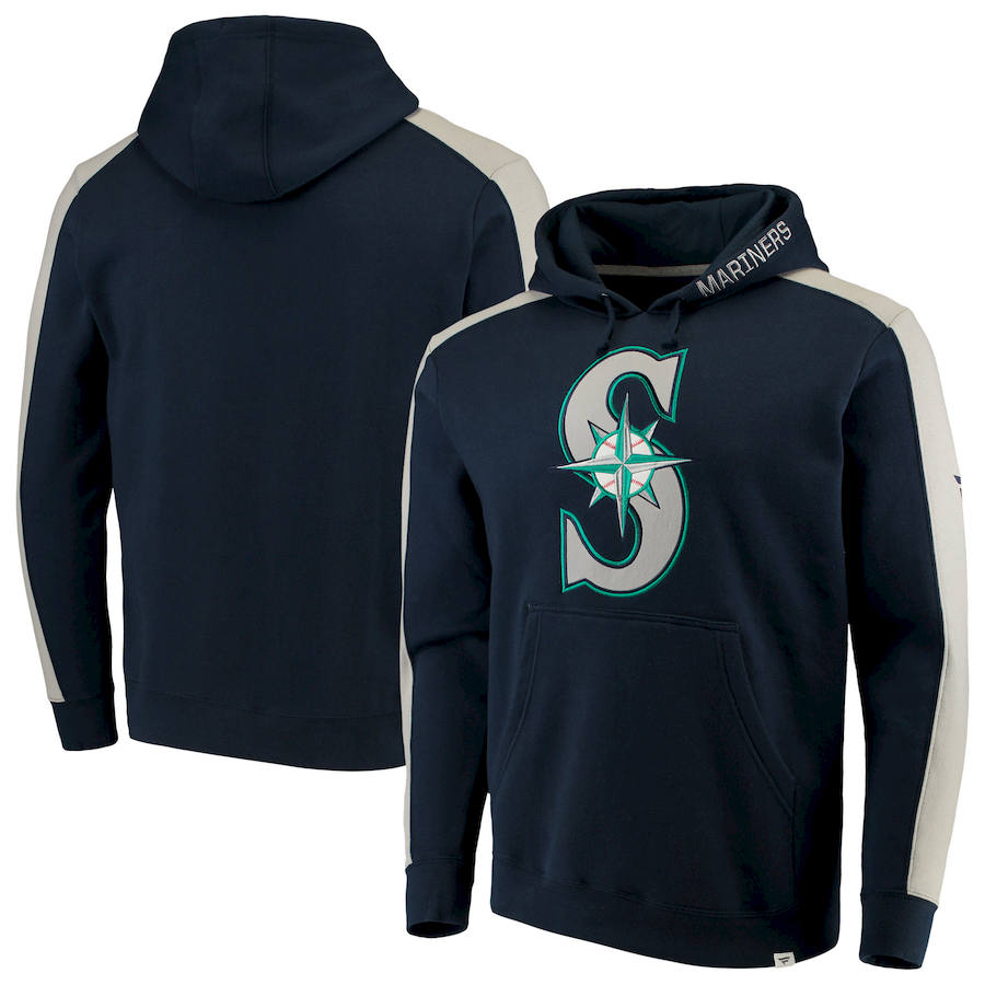 Seattle Mariners Fanatics Branded Iconic Fleece Pullover Hoodie Navy