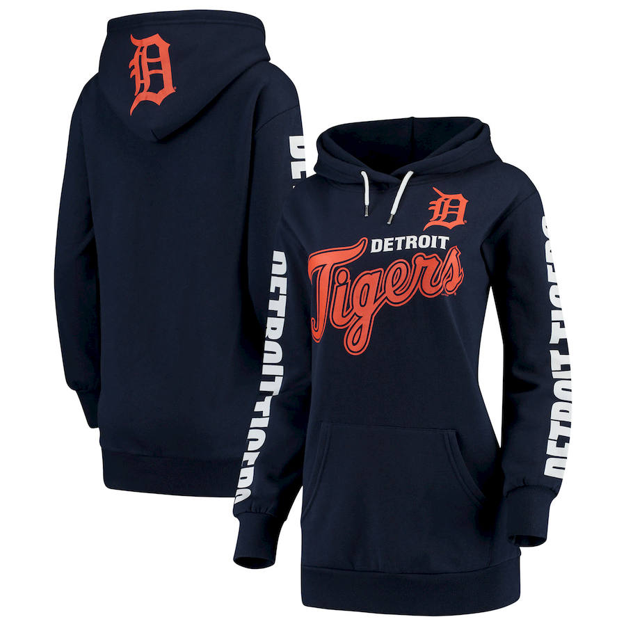 Detroit Tigers G-III 4Her by Carl Banks Women's Extra Innings Pullover Hoodie Navy