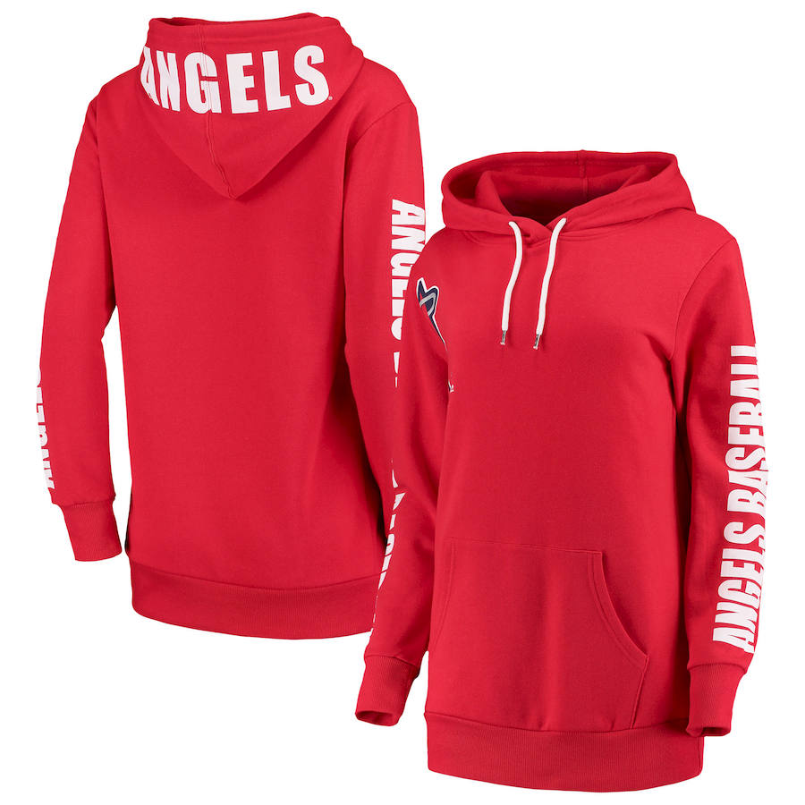 Los Angeles Angels G-III 4Her by Carl Banks Women's 12th Inning Pullover Hoodie Red