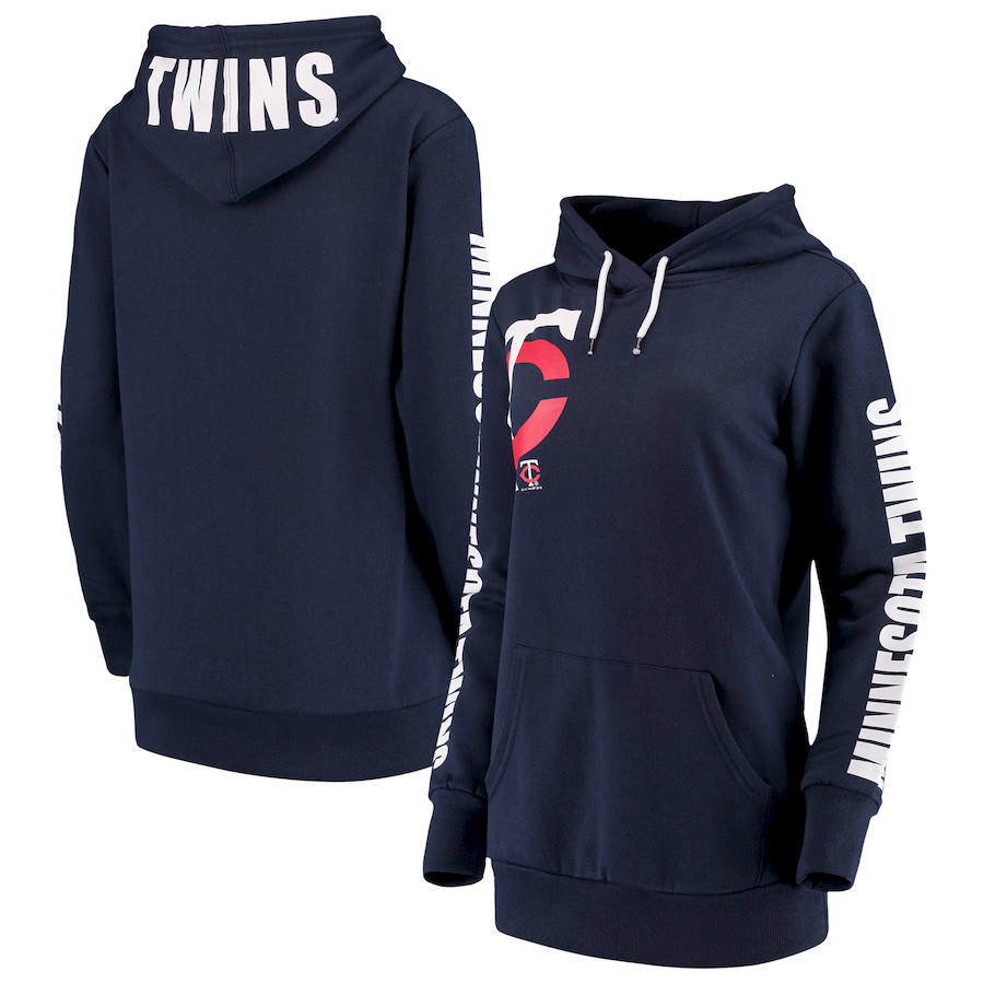 Minnesota Twins G-III 4Her by Carl Banks Women's 12th Inning Pullover Hoodie Navy