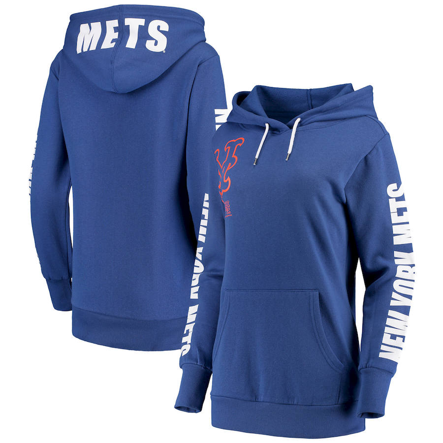 New York Mets G-III 4Her by Carl Banks Women's 12th Inning Pullover Hoodie Royal