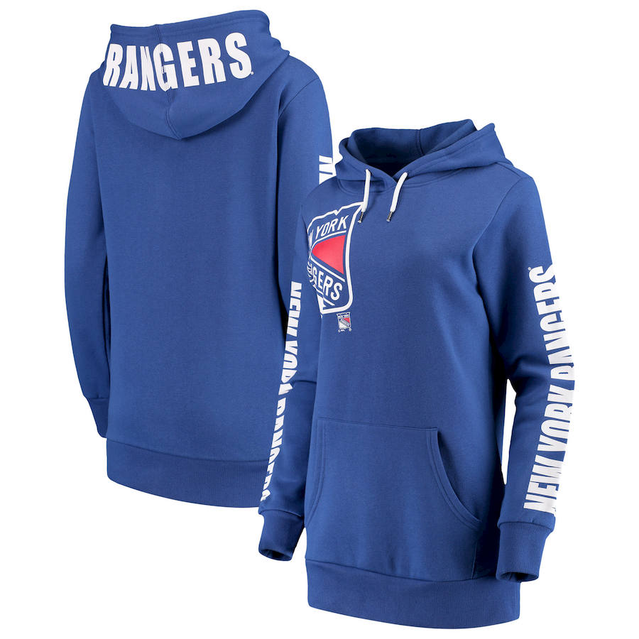 New York Rangers G-III 4Her by Carl Banks Women's 12th Inning Pullover Hoodie Blue
