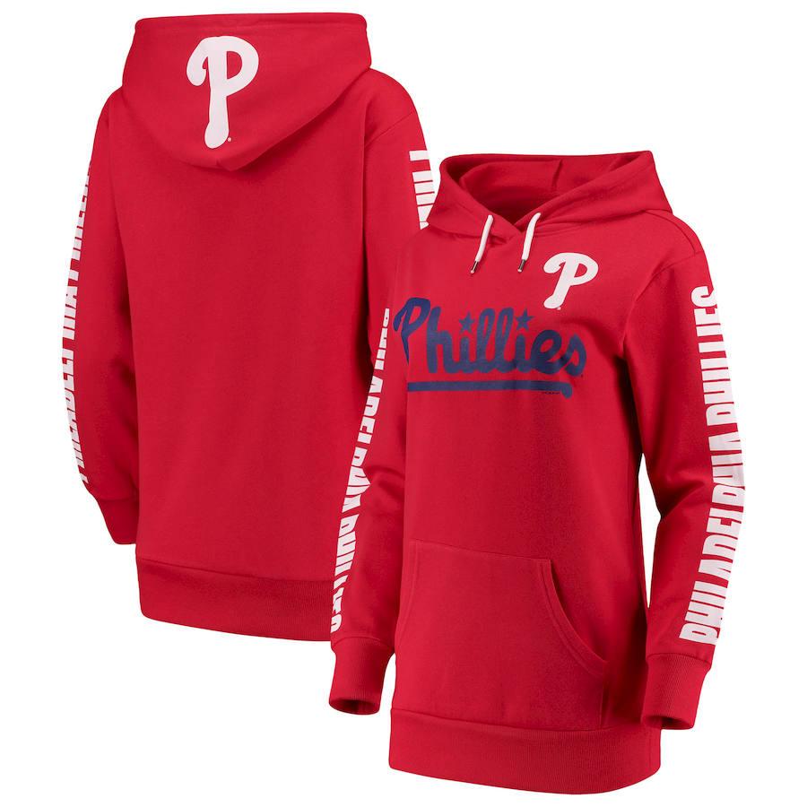 Philadelphia Phillies G-III 4Her by Carl Banks Women's Extra Innings Pullover Hoodie Red