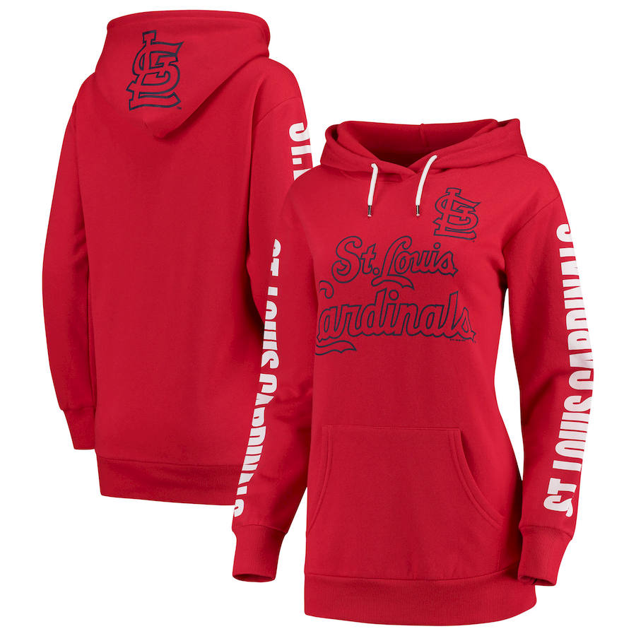 St. Louis Cardinals G-III 4Her by Carl Banks Women's Extra Innings Pullover Hoodie Red