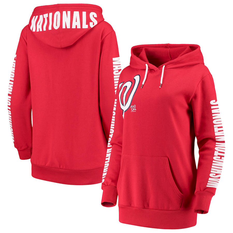 Washington Nationals G-III 4Her by Carl Banks Women's 12th Inning Pullover Hoodie Red