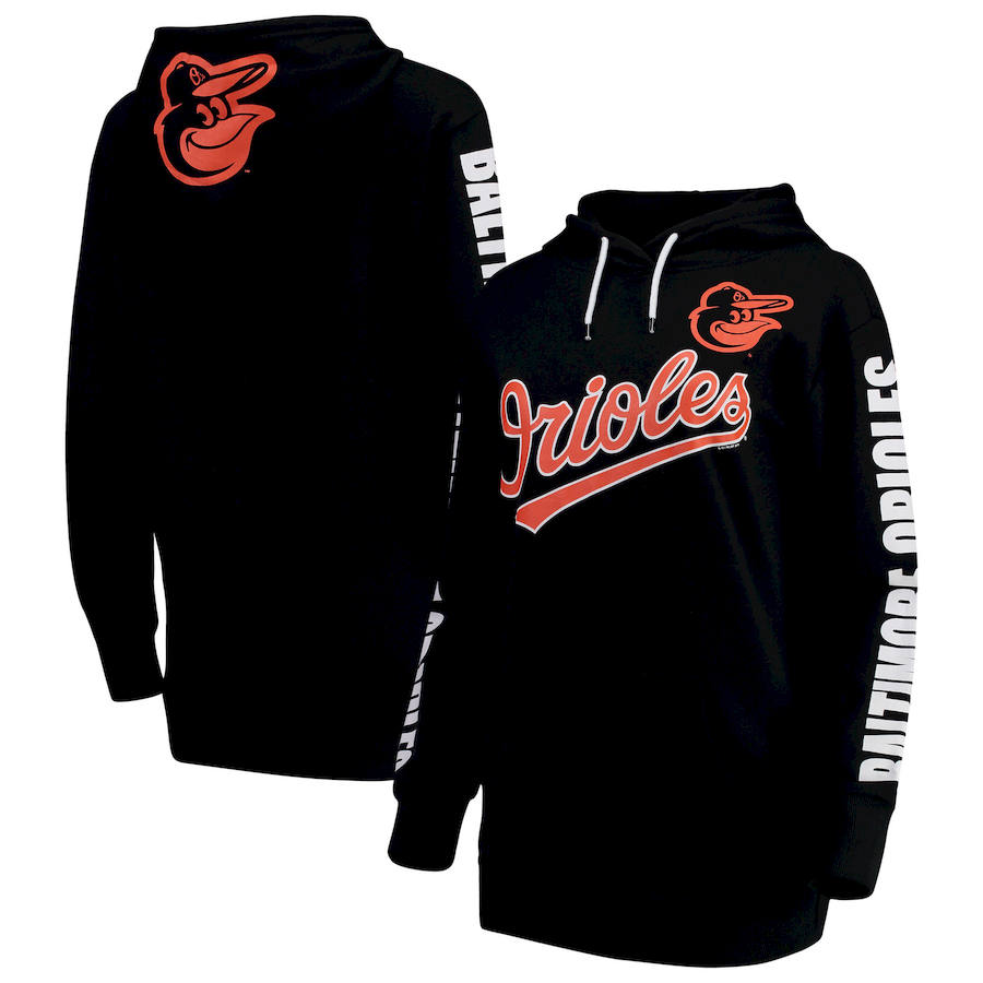 Baltimore Orioles G-III 4Her by Carl Banks Women's Extra Innings Pullover Hoodie Black