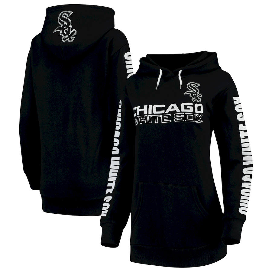 Chicago White Sox G-III 4Her by Carl Banks Women's Extra Innings Pullover Hoodie Black