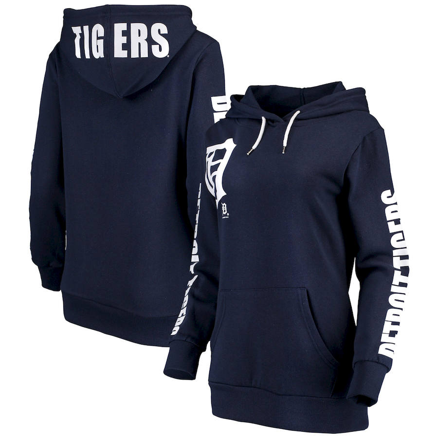 Detroit Tigers G-III 4Her by Carl Banks Women's 12th Inning Pullover Hoodie Navy