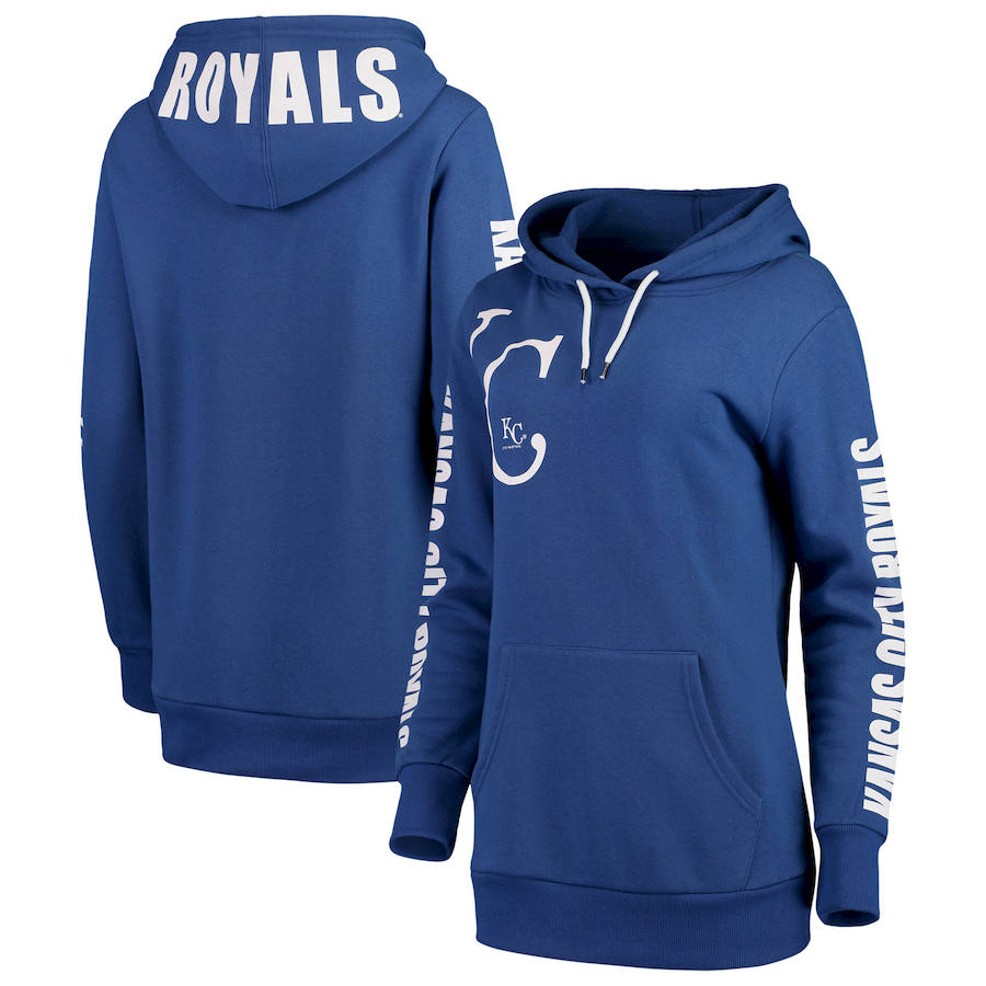 Kansas City Royals G-III 4Her by Carl Banks Women's 12th Inning Pullover Hoodie Royal