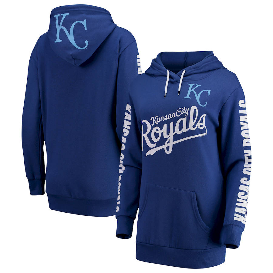 Kansas City Royals G-III 4Her by Carl Banks Women's Extra Innings Pullover Hoodie Royal
