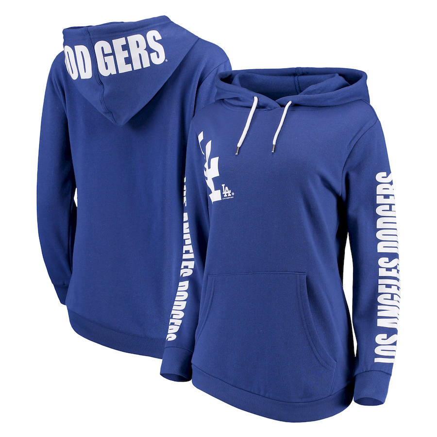 Los Angeles Dodgers G-III 4Her by Carl Banks Women's 12th Inning Pullover Hoodie Royal